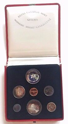 1967 Royal Canadian Mint Proof-Like Silver 7-Coin Set w/ COA in Leather Case