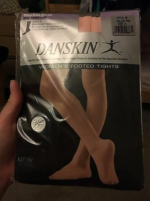 Danskin DuraSoft Nylon Women Footed Tights 85 SZ D XL