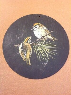 Vintage Birds on 500 Million Year Old Slate Llechwedd Slate Caverns Wales Celtic