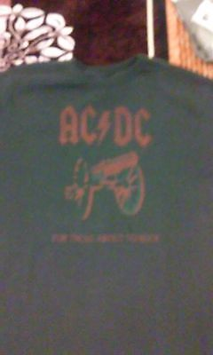 Ac Dc For Those About To Rock Long Sleeve Thermal Shirt Large