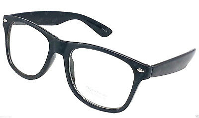New Mens Womens Cat Eye Designer Glasses Clear Lens Black Frame Full Rim Fashion
