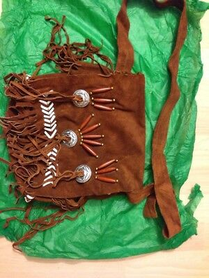 New:(2777): Bag Brown Indian Polyester Zip