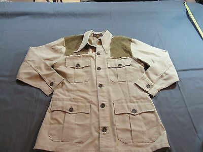 20a704ede7c64 Vintage 10x Americas Finest Sport Shooting Hunting Shirt Jacket Size 42 Tan