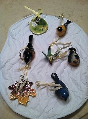 Longaberger Birds and Leaves (7 pieces / 1 price)