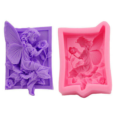 Fairy Angel Elf Silicone Soap Mould Fondant Flower Cake Chocolate Decorating
