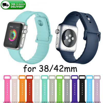 Replace Sports Silicone Bracelet Strap Band For Apple Watch Series 3/2/1 38/42mm