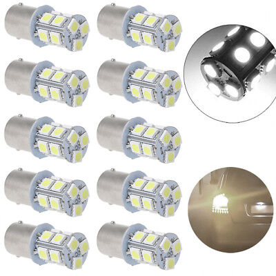 10X 12V 1156 BA15S S25 5050 13 SMD RV Camper Trailer 1141 Interior Light Bulbs