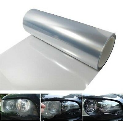 12 by 48 inches Self Adhesive Clear Headlights Tail Lights Fog Lights Sidemar...
