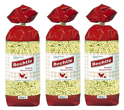 3 Bags Bechtle Spaetzle Bavarian Style, Traditional German Cage-Free Egg Paste