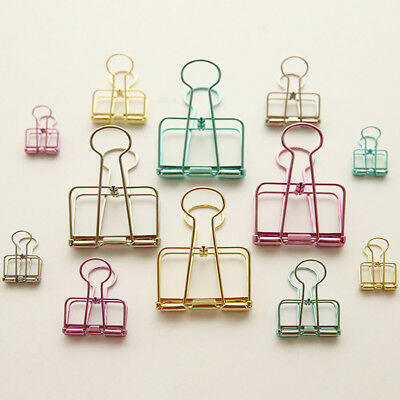 20Pcs Metal Binder Clips for Bookmarks Stationery File Paper Organizer HOT Beamy