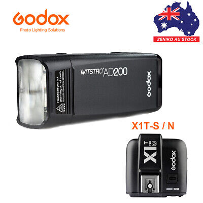 AU Godox AD200 2.4G TTL 1/8000s Pocket Flash Strobe Light + X1T Transmitter Kit