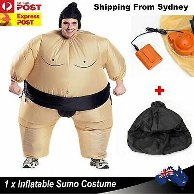 New 1X Sumo Inflatable Wrestler Adult Suits Costume Unisex Fancy Dress Blow Up