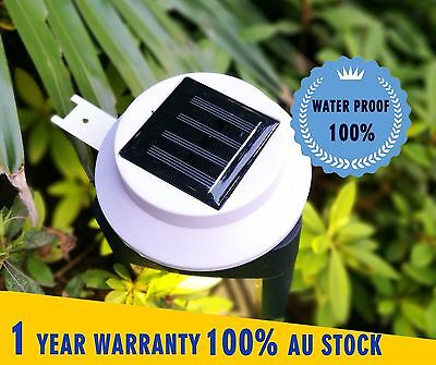 Solar Powered 3LED Fence Gutter  Light Outdoor Garden Yard Wall Pathway Lamp
