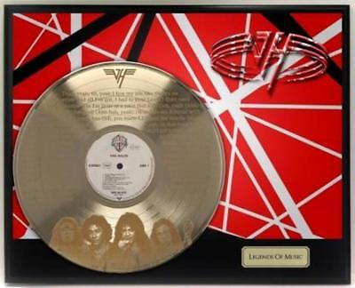 "Van Halen Gold LP Record Display Etched W/ ""Running With The Devil"" ""M4"""
