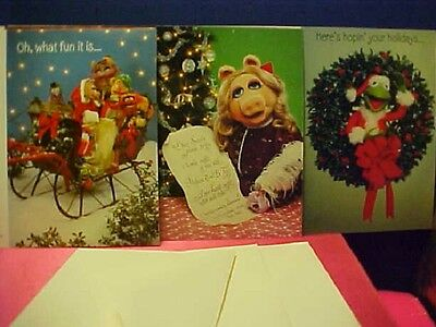 Sleigh of The Muppets (3) different Christmas Cards