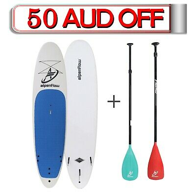 Alpenflow 11' Soft Top SUP package, 11ft stand up paddle board+PADDLE+FIN+LEASH