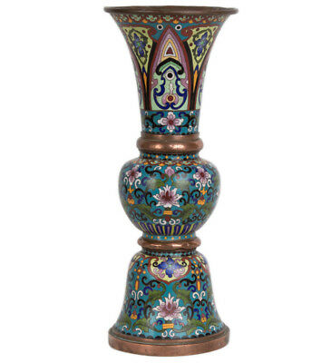 China / Japan Fr. 20. Jh. A Chinese or Japanese 'Gu' Cloisonne Vase Chinois Qing