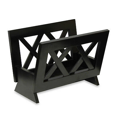 Wooden Magazine Rack Holder Stand Display Home Decor Accent Furniture Mahogany