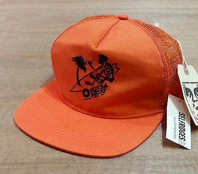 Obey - Orange Surfing Mesh Trucker Snapback Cap - New with Tags