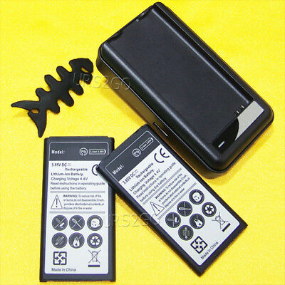 New 2x 5970mAh Battery+Wall Charger For Verizon Samsung Galaxy S5 SM-G900V i9600