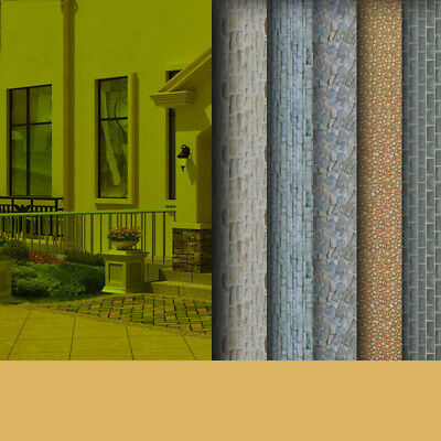 Dolls House Wallpaper Scale Color Paper 1:25/1:87 Card Outdoor Ground 3/10/30Pcs