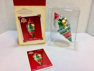 "Hallmark Christmas Ornament 2005 ""Peek-a-Boo"" ~""Looney Tunes Sylvester & Tweety"""