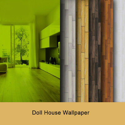 Dolls House Wallpaper Scale Paper 1:25/1:87 Card Wooden Multiple Types