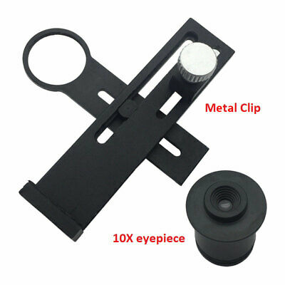 WF10X Microscope Eyepiece Lens Mount Adapter Holder Connect with Mobile Phone