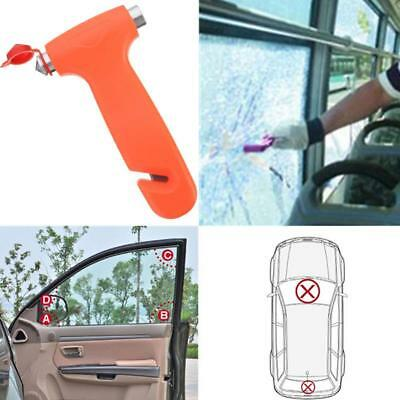 Car Safety Escape Glass Window Breaker Emergency Hammer Holder Seat Belt Cutter