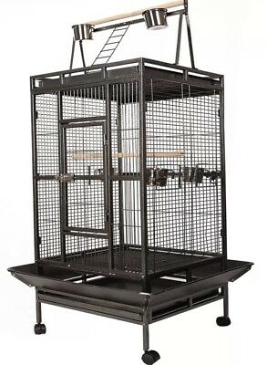 Bird Cage Large Play Parrot Finch Cage Polly Macaw Cockatoo Strong Metal Best UK