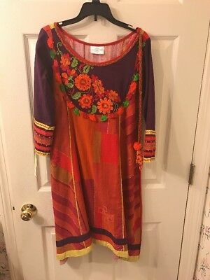 Beautiful Hand Embroidery South asian Tradional Dress/ Long Top. Size Xs