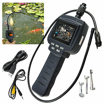 Video Inspection Camera 9mm Lens Record Flip 4 LED Endoscope Car Pipe 1m Cable