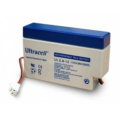 Ultracell UL0.8-12: Batterie au plomb étanche 12V 0.8AH :96x25x62mm