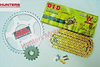 Yamaha FZS600 Fazer (1998 to 2003) DID Gold X-Ring Chain & JT Sprockets Kit Set
