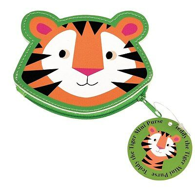 dotcomgiftshop TEDDY THE TIGER VINYL COIN PURSE