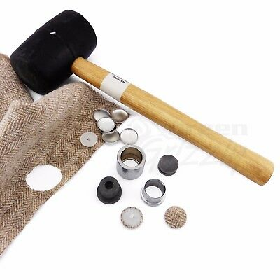Fabric Leather cover button blanks hammering mould tool setter die