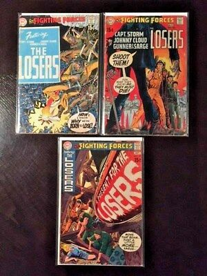 DC Our Fighting Forces The LOSERS (Joe Kubert) Lot of 3 Issues 123 126 127