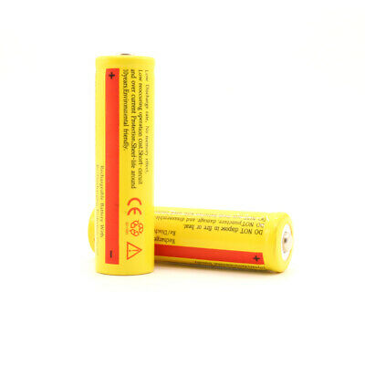 1/2/4 x18650 3600mAh 3.7V Rechargeable Li-ion Battery for Torch Flashlight E-cig