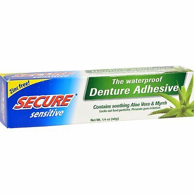 Secure Sensitive Denture Adhesive - 1.4 Oz 2 Pack