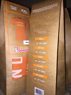 Dunkin Donuts Vintage Coffee - Tee Shirt 1950 -2016 XXL Collectible T-Shirt Rare