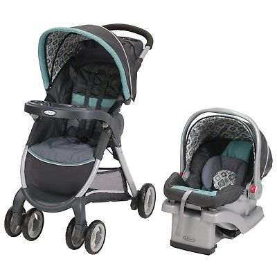 Graco FastAction Fold Click Connect Travel System Car Seat Stroller Combo New