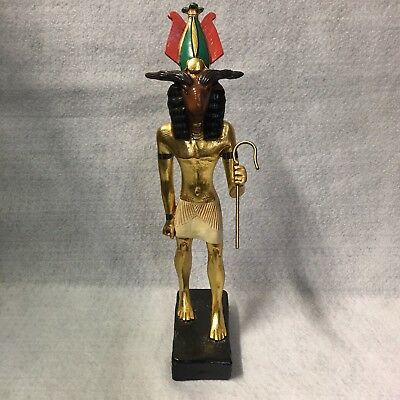 Statue of Egyptian God Khnum  by Artisans Guild International
