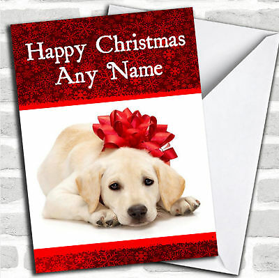 Dog Stunning Red Christmas Customised Card Personalized