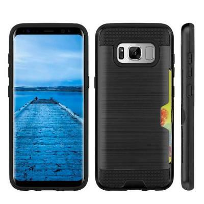 Samsung Galaxy S8 S8+ Plus Hyrbid Case Shockproof Cover with Credit Card Slot