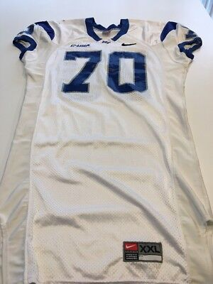 huge discount 015f9 be92d Game Worn Used Nike Middle Tennessee St Blue Raiders Football Jersey Size  XXL 70