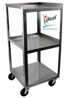 Ideal Stainless Steel 3-shelf Mobile Utility Cart.