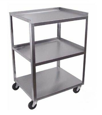 Ideal Stainless Steel 3-shelf Mobile Cart