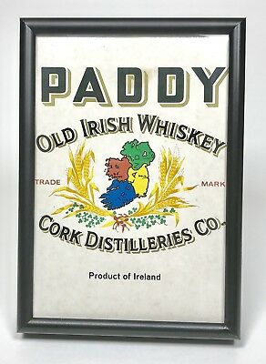 Paddy Old Irish Whiskey Sign Plaque - Ireland Cork Distilleries Co