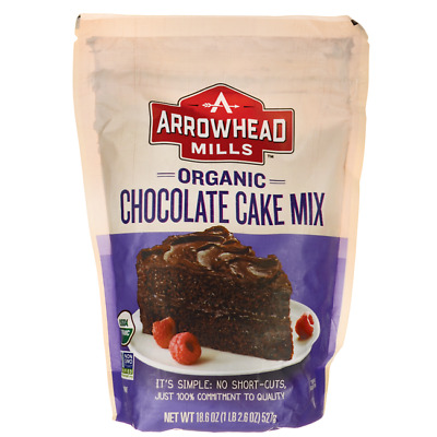 Arrowhead Mills Organic Chocolate Cake Mix 18.6 oz (527 grams) Pkg