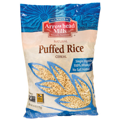 Arrowhead Mills Natural Puffed Rice Cereal 6 oz (170 grams) Pkg